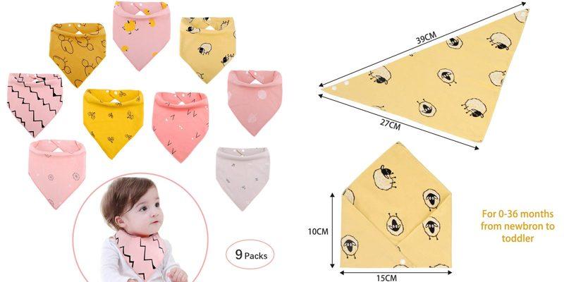 baberos bandana para bebes