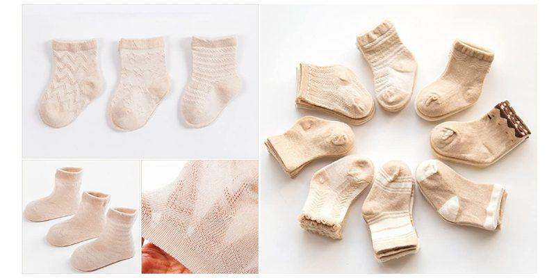 calcetines para recién nacido ecológicos
