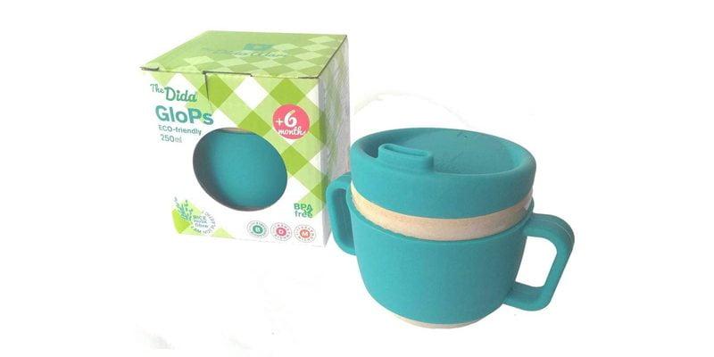taza de aprendizaje para bebés hecha de fibra de arroz