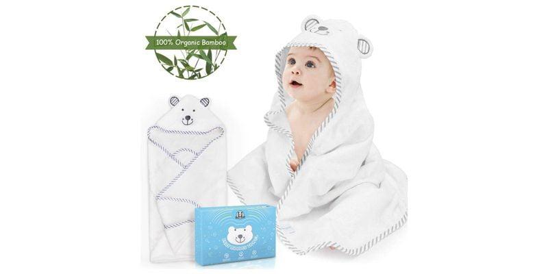 toalla ecológica para recién nacido de bambu